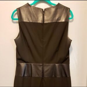 Calvin Klein black & faux leather dress